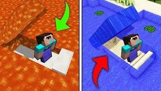 БАЗА ПОД ЛАВОЙ против ПОДВОДНОЙ БАЗЫ В МАЙНКРАФТ! Нубик построил Троллинг Ловушка Minecraft Мультик