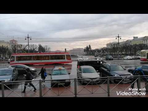Площадь Ленина. Финляндский вокзал. Трамваи.