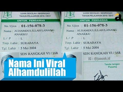 Cerita Orang Tua Soal Nama 'Alhamdulilah Lanang Anakku'
