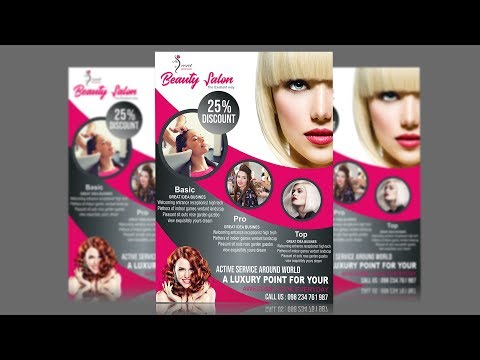 Salon Flyer Design Using CorelDraw X6 - X7 - X8 Tutorial Mp3