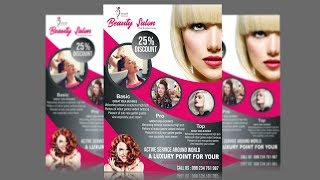 Salon Flyer Design Using CorelDraw X6 - X7 - X8 Tutorial