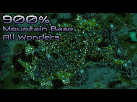 They are Billions - 900% No pause - Mountain Base / All Wonders - Caustic Lands