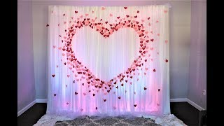 Paper Heart Backdrop DIY | How To