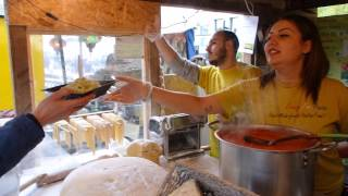 "Italian Street Food: Delicious Freshly Handmade Tagliatelle by ""Crazy for Pasta"" in London."