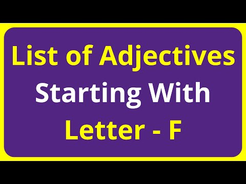 List of Adjectives Words Starting With Letter - F