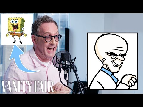 SpongeBob Voice actor Tom Kenny is given random new cartoon characters and improvises voices for them