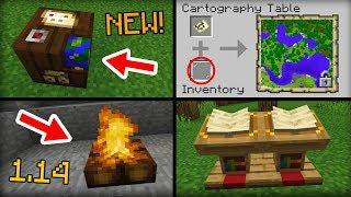 NEW Stuff Added In Minecraft 1.14 Update