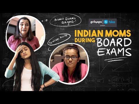 Indian Moms During Board Exams feat. Puja Swaroop & Khushbu Baid   Girliyapa M.O.M.S