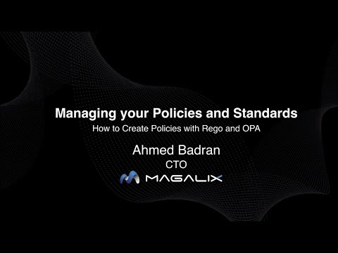 Managing your policies and standards