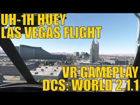 Flying Through Vegas in Virtual Reality - Huey Helicopter