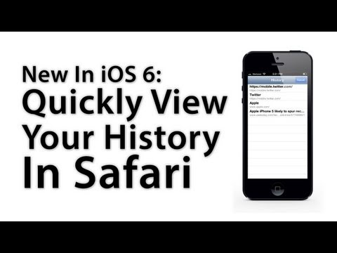 New In iOS 6: Quickly View Your Safari Browsing History On iPhone / iPod Touch
