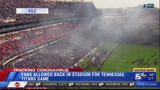 Titans to welcome fans back to Nissan Stadium in October