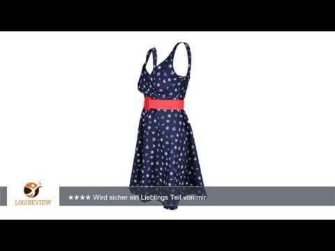 Küstenluder LEANY Sailor 50s Anker Pin Up Swing Dress / Kleid - Blau Rockabilly |