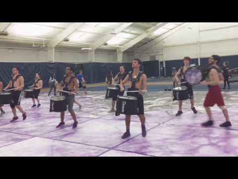 Motor City Percussion before their 2017 WGI prelims performance