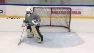 Тренировка Хоккейного Вратаря✅Отработка Движения в Воротах 🥅Длинное Т-образное перемещение +фонарик