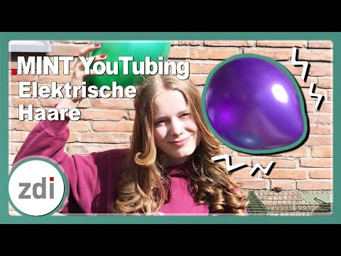 Elektrische Haare • Experimente mit der Reibungselektrizität • MINT YouTubing Rheda-Wiedenbrück