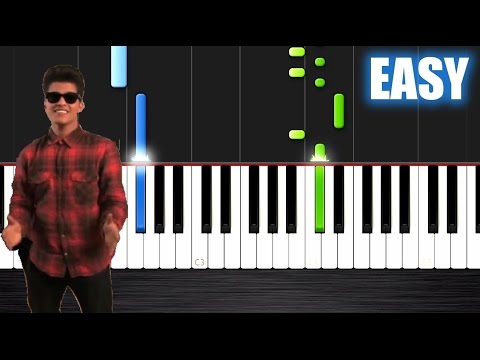 Bruno Mars - The Lazy Song - EASY Piano Tutorial by PlutaX