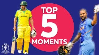 Dhoni? Dhawan? Stoinis? | India vs Australia Top 5 Moments | ICC Cricket World Cup 2019
