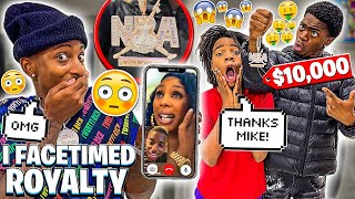 I FACETIMED ROYALTY FOR THE FIRST TIME😍& SURPRISED JAKARI WITH A NBA YOUNGBOY CHAIN!😱