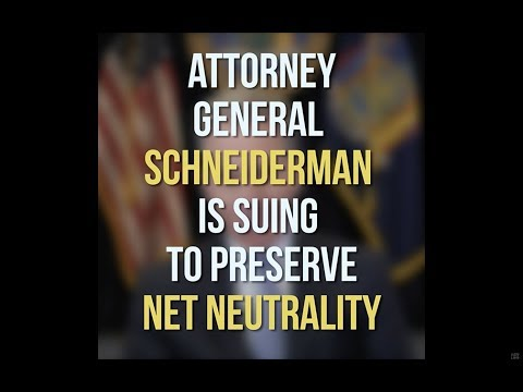 photo image New York Attorney General Leads Filing of Multi-State Lawsuit to Block Rollback of Net Neutrality