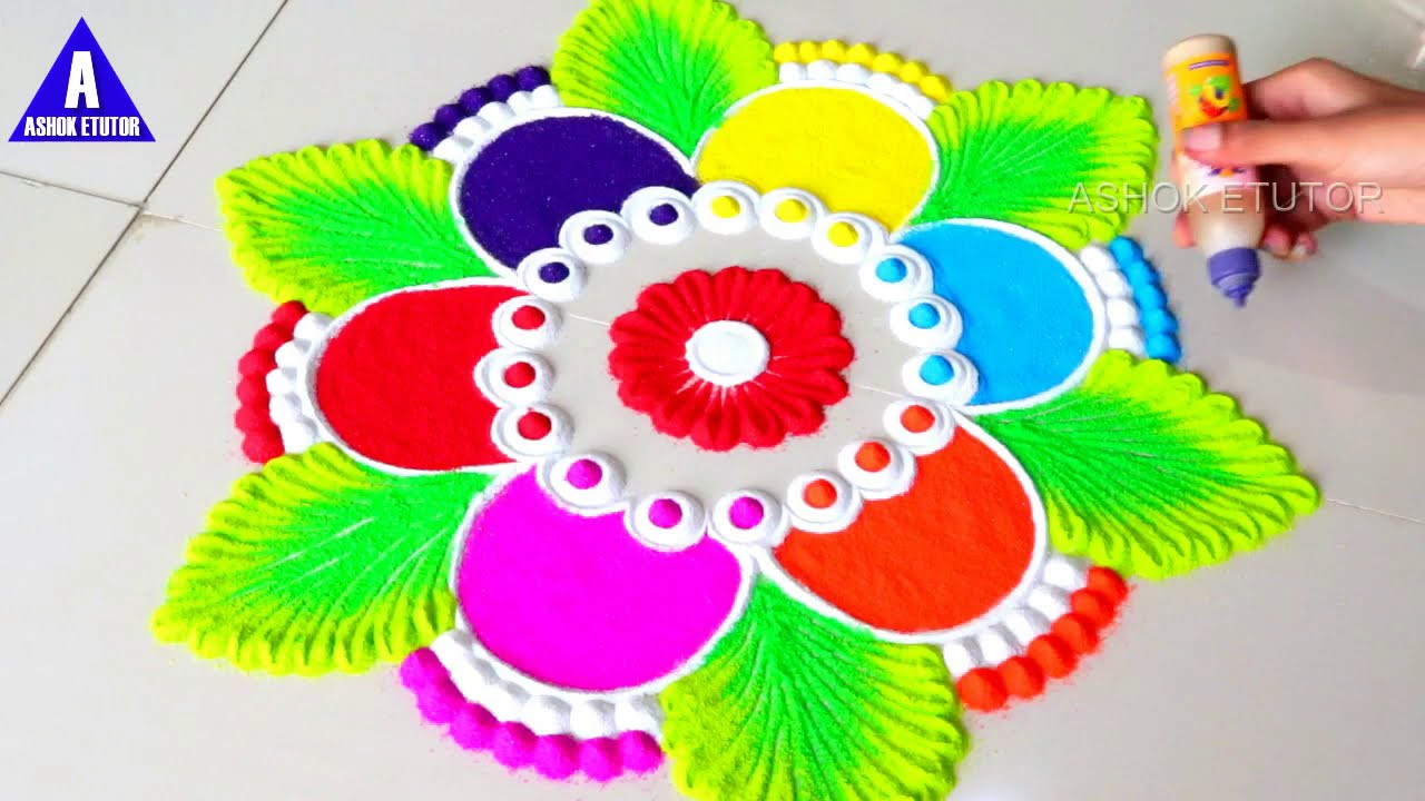diwali rangoli design by ashok etutor