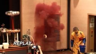 Explosion of nitrogen triiodide