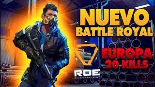 ¡NUEVO BATTLE ROYAL EUROPA! PROBANDO LA GROZA | 20 KILLS DUO | Ring of Elysium