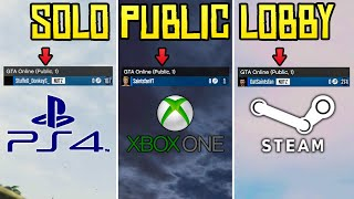 GTA Online - How to Get into a SOLO PUBLIC Lobby on PS4, Xbox One & PC (Updated 2019 Patch 1.46)