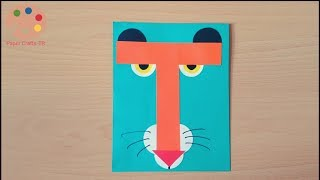 How To Make Tiger With T-Letter Craft