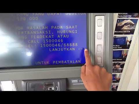 Cara Menabung Ke rekening sendiri lewat ATM setor (CDM) Bank BNI