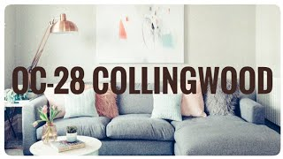 MODERN GRAY WALL COLOR | Benjamin Moore Collingwood | Interior Design 2020