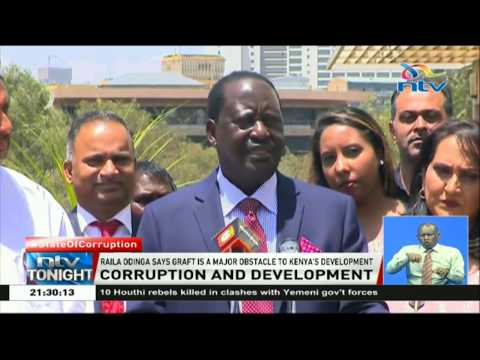 NASA leader, Raila Odinga says graft is a major obstacle to Kenya's development