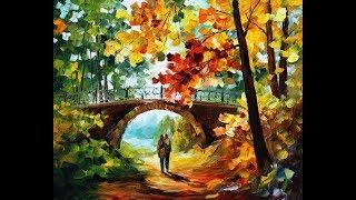 Leonid Afremov ✽ Francis Goya / One Sunday Morning (romantic guitar)