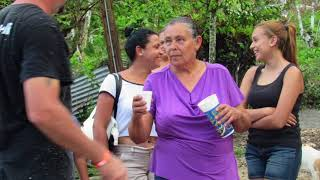 Yadi and Fundacion 4 on ground in PR delivering food, water