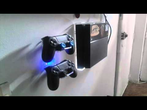 Ps4 Fat, Ps4 Slim, Ps4 Pro . Soporte acrilico para pared