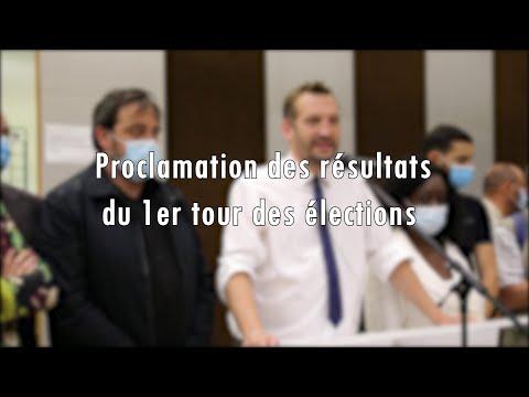 Proclamation résultats des élections départementales et régionales