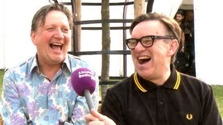 Squeeze Interview (Glenn Tilbrook and Chris Difford) at Cornbury Festival 2013