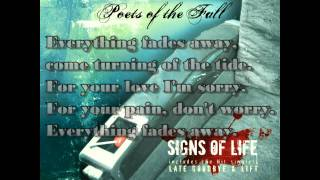 Poets of the Fall - Everything Fades (Lyrics Video)