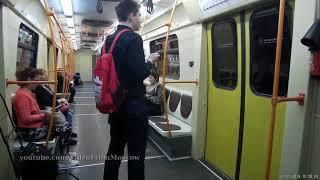 Поездка по кольцевой линии метро на поездах Яуза и Москва // 12 мая 2018 года