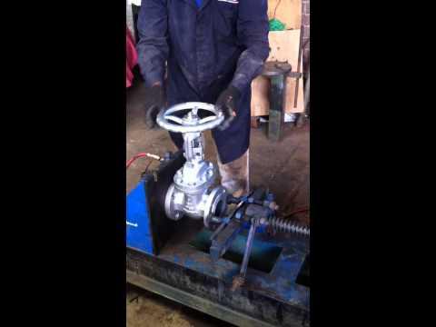 Prueba hidrostática de una válvula