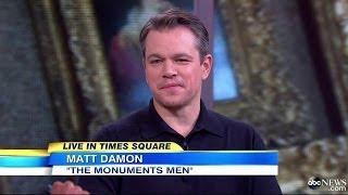 Matt Damon 'Good Morning America' Interview | Feb 2014