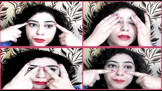 5 minute Face Yoga exercise to Get rid of Under Eye Dark Circles, Wrinkles & Puffy Eyes