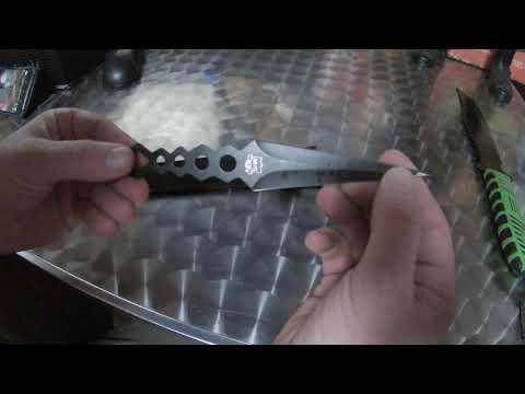 Wurfmesser Triga mit Gürteletui