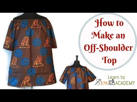 How to Make Off Shoulder Top | Cutting and Sewing Simple Off-Shoulder Top | Beginner
