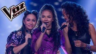 Aleja, Estefany y Rosil cantan 'Ángel' | Batallas | La Voz Teens Colombia 2016