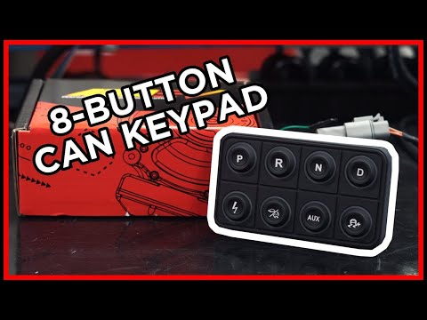 TAKE CONTROL! AEM EV 8-Button CAN Keypad!