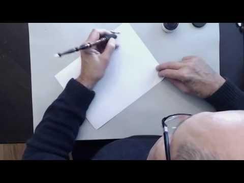 Master Penman John DeCollibus: Basic tips for Left-Handed Calligraphers