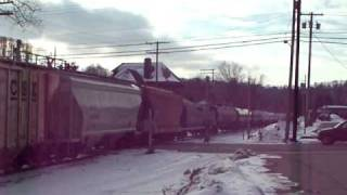 preview picture of video 'Buffalo & Pittsburgh Railroad in Ridgway, PA December 19, 2010'