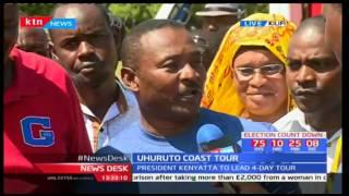 President Uhuru Kenyatta and Deputy William Ruto traverse the Coastal region in search of votes