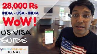 USA Visa & Cheap return flights in 28,000 Rs.